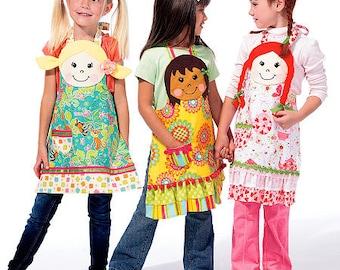 McCalls 6662 Childrens apron sewing pattern, Apron Pattern, Kids Apron Pattern size 3-8 Out of Print Pattern