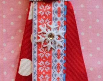 I love winter snowflake Keychain