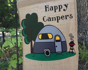 Happy Campers Custom Flag