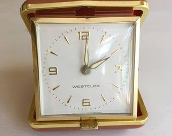 Vintage Westclox Travel Alarm Clock in Original Box