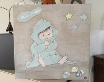 Decorative Tableau for little boy's room!