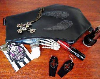 Black Angel Casket Clutch