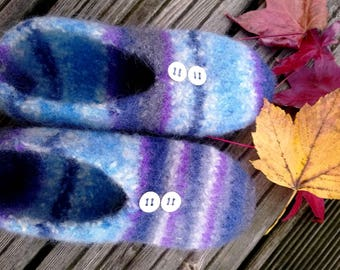 Made of FELTED wool SLIPPERS