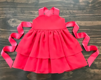 Girls red dress - Toddler red dress - Red girls dress - Toddler chiffon dress - Special Occasion dress - Ballerina dress - Christmas dress