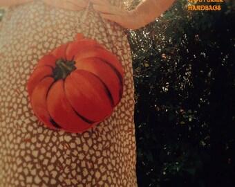 Pumpkin purse halloween purse fall purse fall accessories halloween accessories orange handbag