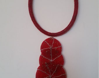 Africa handmade beaded necklace