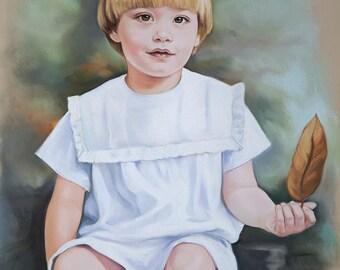 Pastel portrait, Custom child portraits