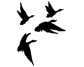 Duck Hunting Vinyl Sticker - Geese Hunter Decal - Flying Geese Stickers