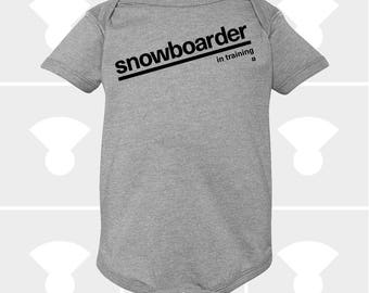 Snowboarder In Training - Baby Onesie