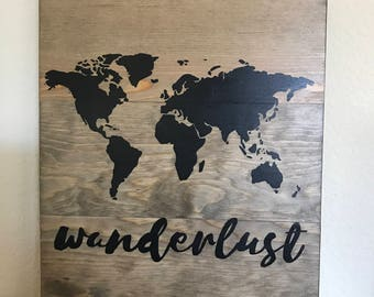 Wanderlust with world map
