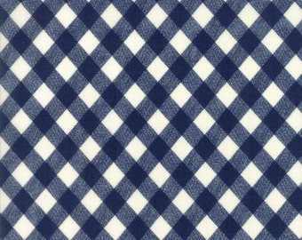Moda Vintage Picnic Gingham in Navy Fabric by Bonnie and Camille Basics for Moda Fabrics
