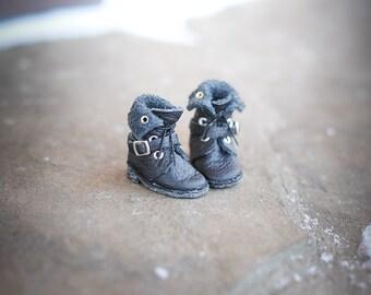 Blythe black leather  shoes - blythe boots  by BlablaBlythe