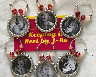 Gorgeous Marilyn Monroe wine charms