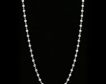 14K Diamond Necklace White Gold 1.74 cts Diamonds By The Chain Necklace