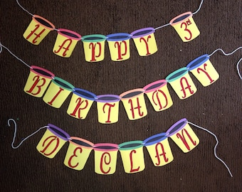 Playdoh Birthday Banner