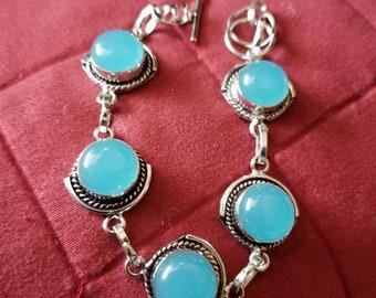 Blue Chalcedony Bracelet- 7- 8 inches!