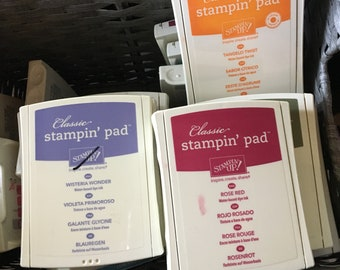 RETIRED and Rare Stampin Up Ink Pads