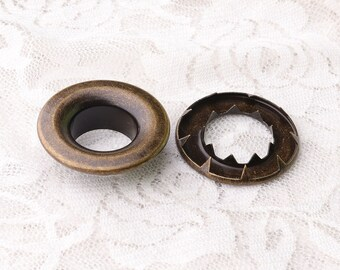 large eyelets 32*15.5*10mm round eyelets grommets metal grommets eyelets with washers antique brass eyelets 10sets