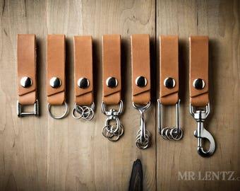 Personalized keychain, Custom Keychain, Belt loop keychain, Leather Key Fob, Leather keychain, key fob, key ring, leather keyring 009