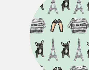 Mouse Pad Mousepad Mousepads Desk Accessories Office Supplies French Bulldog Cubicle Decor Coworker Gift Office Desk Decor Paris Cute