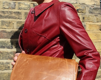 Isabelle Saddle Bag Tan Smooth Leather