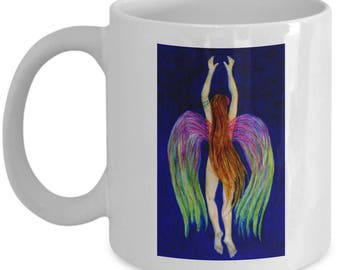 Fun Fairy Angel Mermaid Aliya 11oz Coffee Mug, Tea or Chocolate Cup
