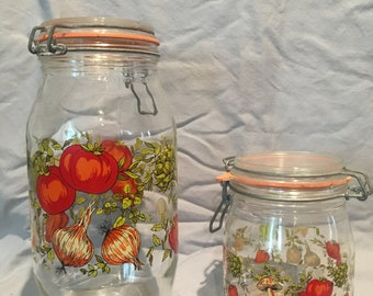 Glass Canisters - Set of 2