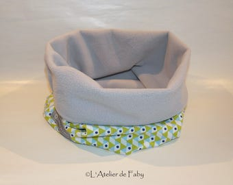 Circumference graphic Snood neck teal size 2