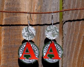 Craft Beer Can Earrings