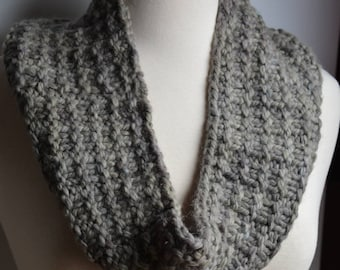 Chunky Charcoal and Gray Cowl