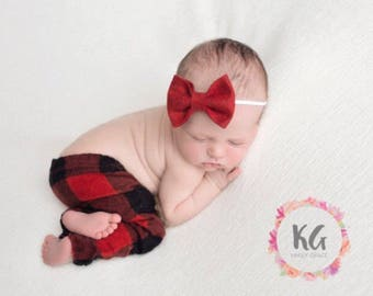 Hair Bow, Baby Headband, Newborn Headband, Baby Girl Headband, Baby Bows, Red Headband, Felt Headband, Newborn Girl, Baby