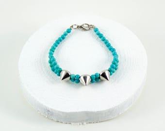 silver stud bracelet