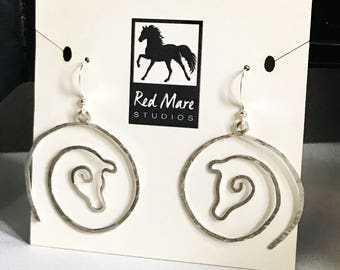 Red Mare Circle Earrings