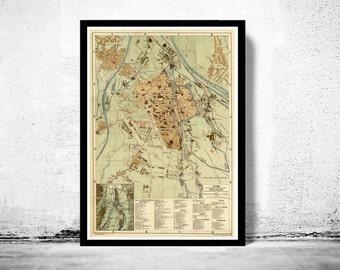 Old Map of Augsburg, Bavaria Germany 1888
