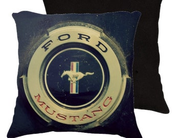 "1965 - Classic Mustang - 18x18"" Artistic Pillow Cover -"
