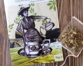 Anytime Card for friend. Support Card for friend. Tea Bag.