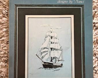 Under Sail Cross Stitch Pattern, 1982