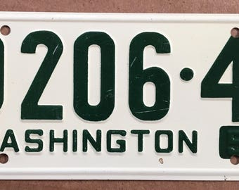 1953 Wheaties Collectible Children's Bicycle License Plate State of Washington General Mills