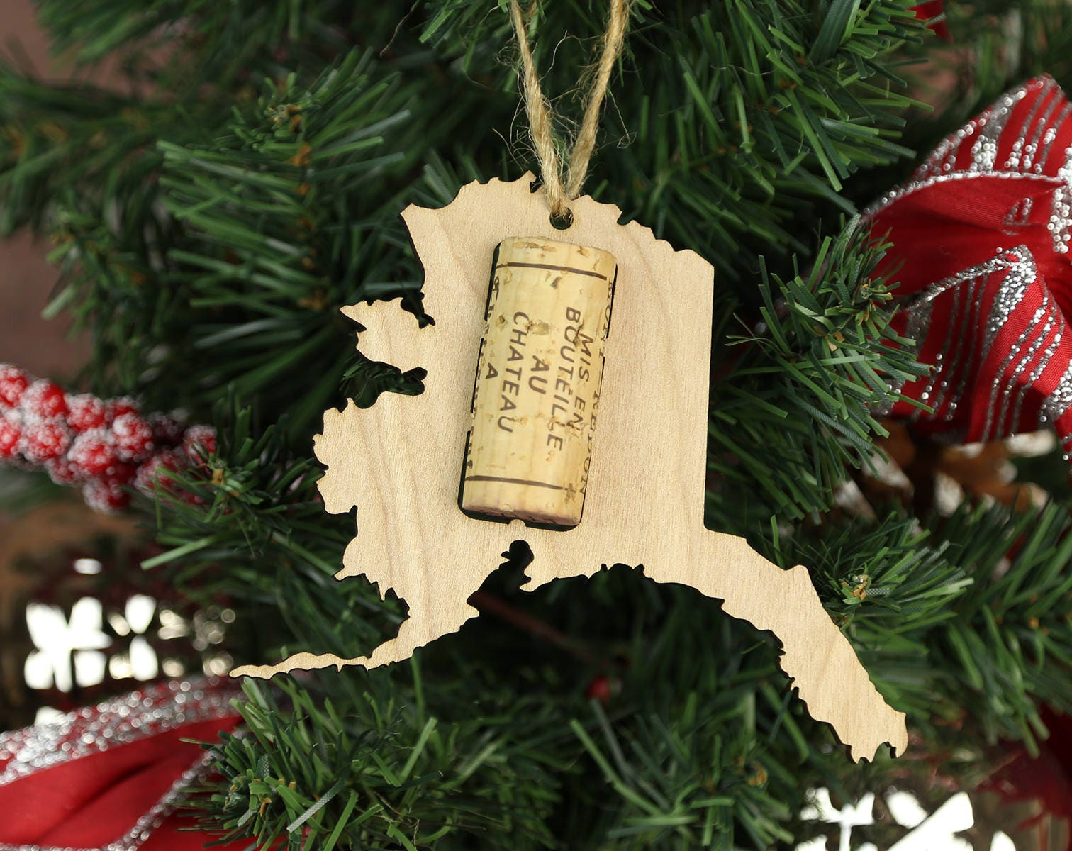 ALL STATES AVAILABLE State Wine Cork Trap Christmas Tree