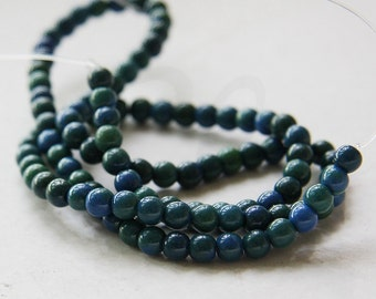 One Strand (16 Inches) Blue Green Stone - Round 4.5-5mm (45)