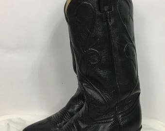 Dan Post cowboy boots/vintage leather cowboy boots size 7.5