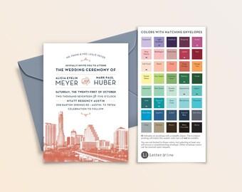 Sample: Austin City Skyline Invitation
