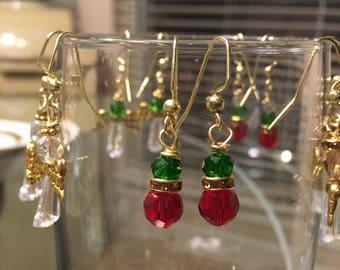 Christmas snowman earrings