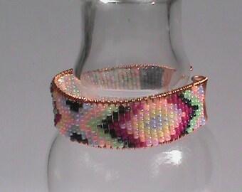 Pink Chevron Stripe Bracelet