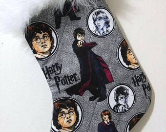 Harry Potter Wizard Christmas Holiday Quilted Stocking