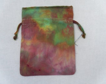 cotton jewelry bag, OOAK