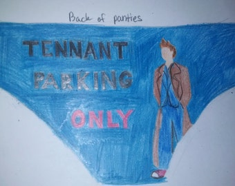 Tennant Parking Only Dr. Who panties lingerie
