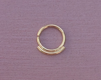 Simplicity Septum Ring - Solid 9ct Yellow Gold - Daith Rook Helix Piercing