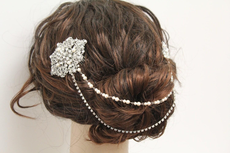 bridal hair chain wedding hair comb bridal hair comb wedding