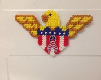 Bald Eagle magnet needlepoint plastic canvas